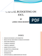 Capital Budgeting on IOCL
