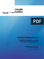 WHO HIV Priority Intervention