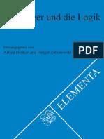 Heidegger Und Die Logik, Ed. Denker, Zabarowski [2006]