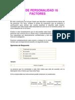 Test de Personalidad 16 Factores
