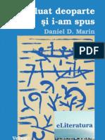 l-am luat deoparte şi i-am spus. Versuri de Daniel D. Marin