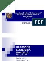 Geografie Economica Mondiala - Curs Online