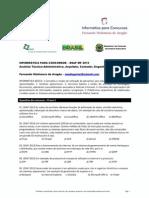 ESAF MF 2013 - Analista Técnico-Administrativo, Arquiteto, Contador, Engenheiro e Pedagogo