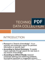 Techniques of Data Collection