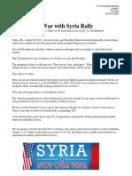 No War with Syria Rally Tulsa