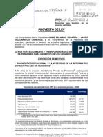 PL.474 - Ley de fortalecimiento del Sistema Privado de Pensiones para beneficio de usuarios y afiliados (Jaime Delgado)