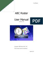 ABC Roster v1.6 User Manual