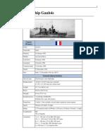 French Battleship Gaulois