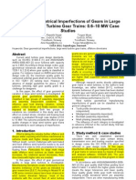Effect of Geometrical Imperfections of Gears in Large Offshore Wind Turbine Gear Trains Case Studies
