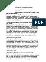 Entrevista a CLAUDIO NARANJO Por Oscar Fontrodona
