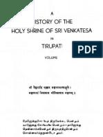 01.a History of the Holy Shrine of Sri Venkatesa in Tirupati 1