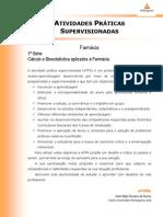 Cálculo e Bioestatística (2) - curso de Farmácia - ATPS