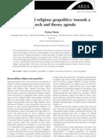 EL FUTURO DE LA GEOPOLITICA DE LA RELIGIÓN
