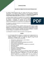 Convocatoria Concurso IFE COLMEX 2013 Final