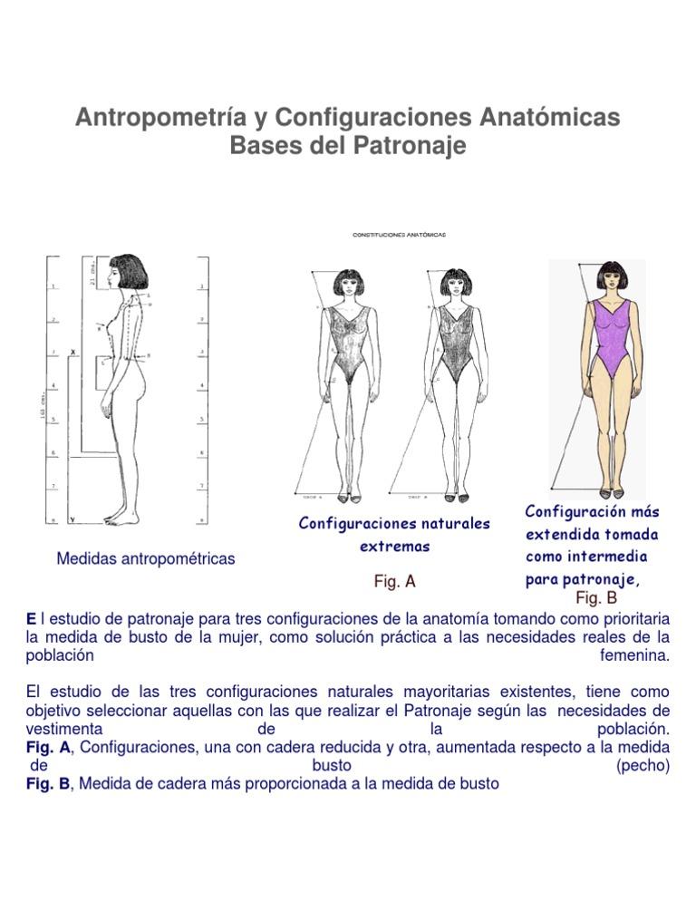 Antropometría y Configuraciones Anatómicas