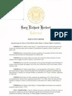 Executive Order Establishing MLK Commission