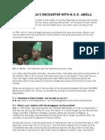 Prophet Joshua's Encounter With Mko Abiola