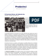 Eco, Umberto; El Fascismo Eterno - Prodavinci