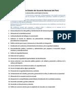 Políticas de Estado del Acuerdo Nacional del Perú
