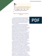 Kant e o primado do problema crítico - Olavo de Carvalho