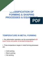 Bulk Deformatin Processes and Equipment