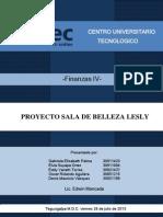 Proyecto Finanzas IV Sala de Belleza Lesly