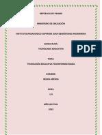 Tema5-Tecnologia Educativa Teleinformatizada