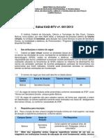 Edital Tutoria Virtual 001-2013 BTV