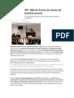 27-08-2013 Sexenio Puebla - Propone RMV Diferir Fecha de Inicio de Modelo de Justicia Penal