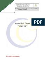 Manual de Calidad Del Itsx