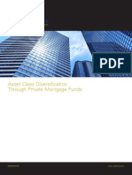 Asset Class Diversification Through Private Mortgage Funds