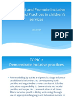 Topic 2 Demonstrate Inclusive Practices