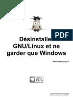 186926 Desinstaller Gnu Linux Et Ne Garder Que Windows