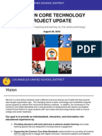 LAUSD Common Core Technology Project Update