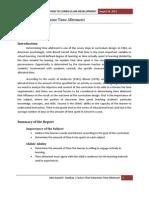 Factors that Determine Time Allotment