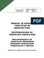 Manual de Bpm Distribuidora de Servicios Varios Eirl -Actualizado