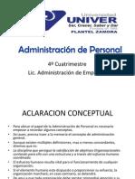 Concepto y Aclaración Conceptual de la Administración de Personal