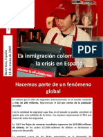 Pérez (2009), Inmigracion col ante crisis
