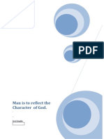 Man is to reflect the Character of God