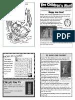 Children's Word bulletin for Sunday, September 1st, 2013