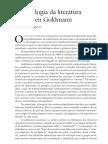 Sociologia Da Literatura - Goldmann