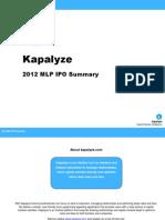 Kapalyze 2012 MLP IPO Report
