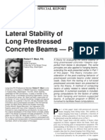 Lateral Stability of Long Prestressed Concrete Beams - Part 2 [PCI]