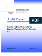 DOE IG Audit Rpt Nuclear Weapons Safety