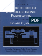 Introduction To Microelectronic Fabrication Diffusion