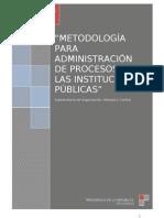 Metodología de administración de procesos en las instituciones públicas