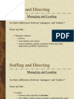 Organizing and administration, 