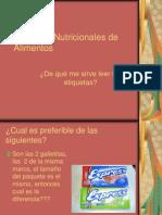 Etiquetas Nutricionales de Alimentos