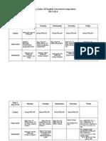 AP Lit. Pacing Guide Weekly 2013 -14 First Sem 08-22-2013
