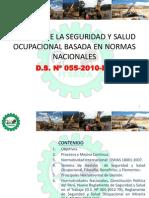 GESTIÓN DE LA SEGURIDAD Y SALUD OCUPACIONAL BASADA EN NORMAS NACIONALES